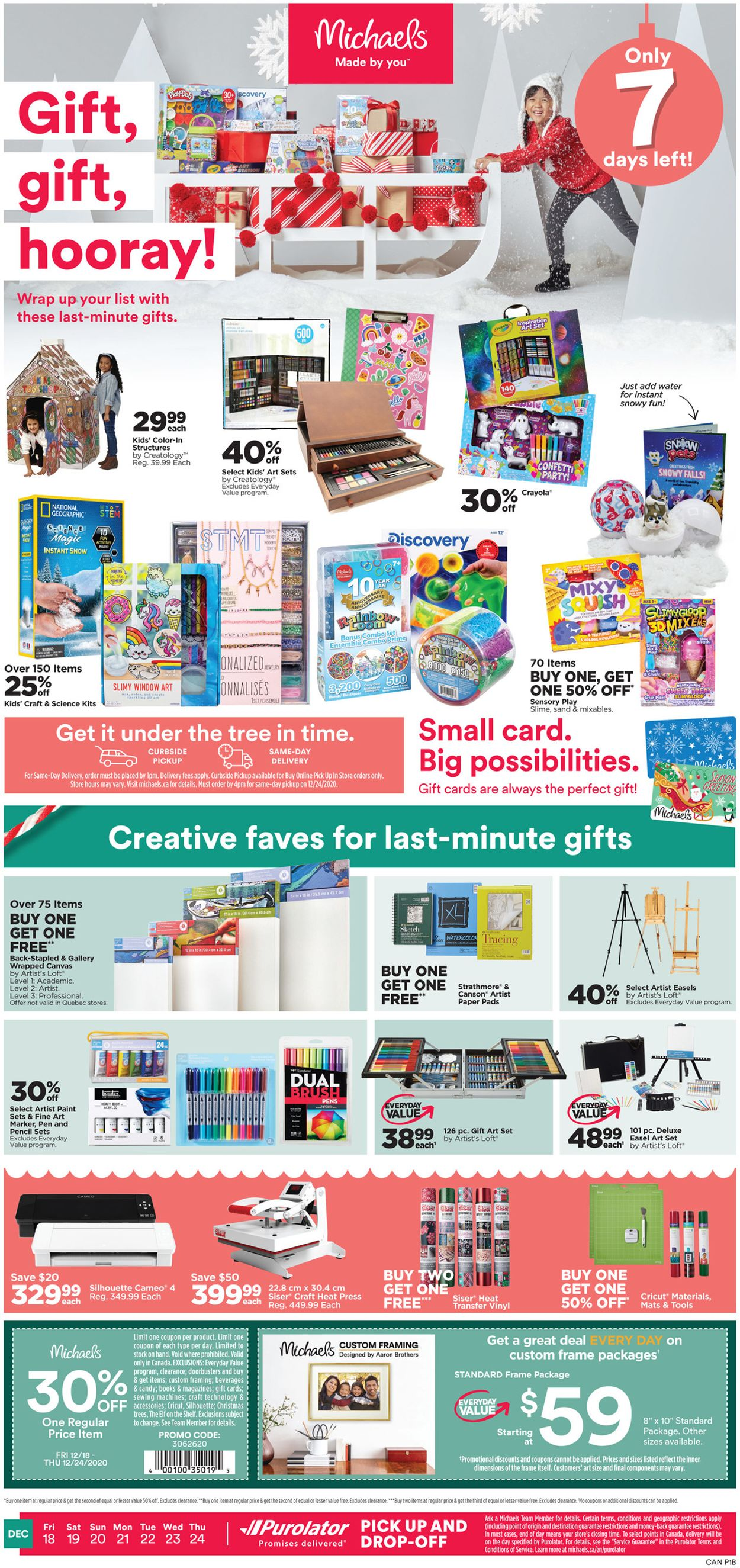 Michaels - Holiday 2020 Flyer - 12/18-12/24/2020