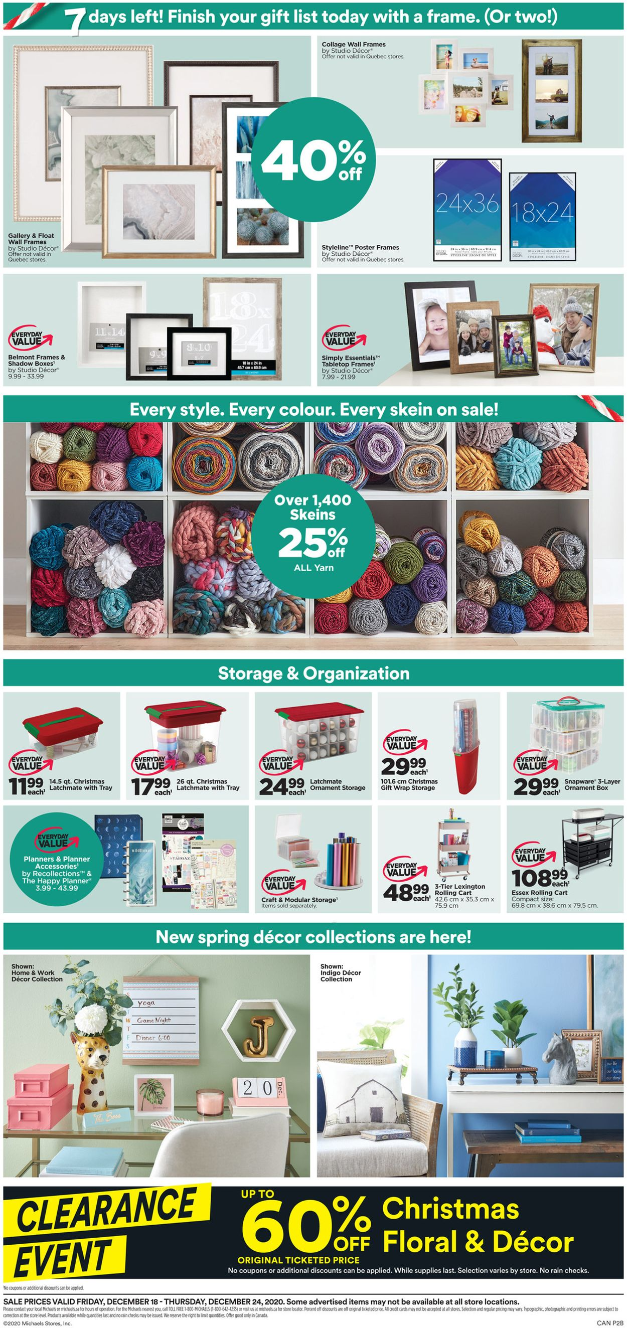 Michaels - Holiday 2020 Flyer - 12/18-12/24/2020 (Page 2)