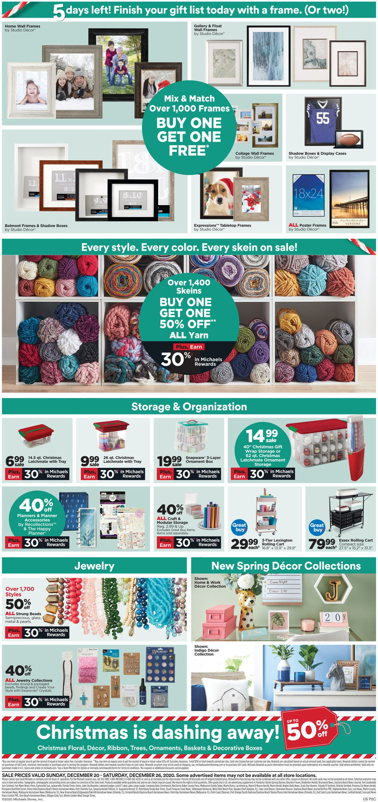 Michaels - Holiday 2020 Flyer - 12/20-12/26/2020 (Page 2)