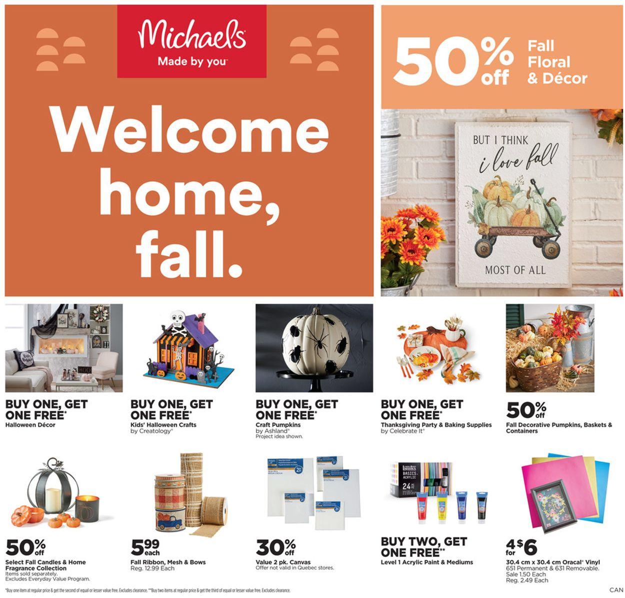 Michaels Flyer - 09/24-09/30/2021