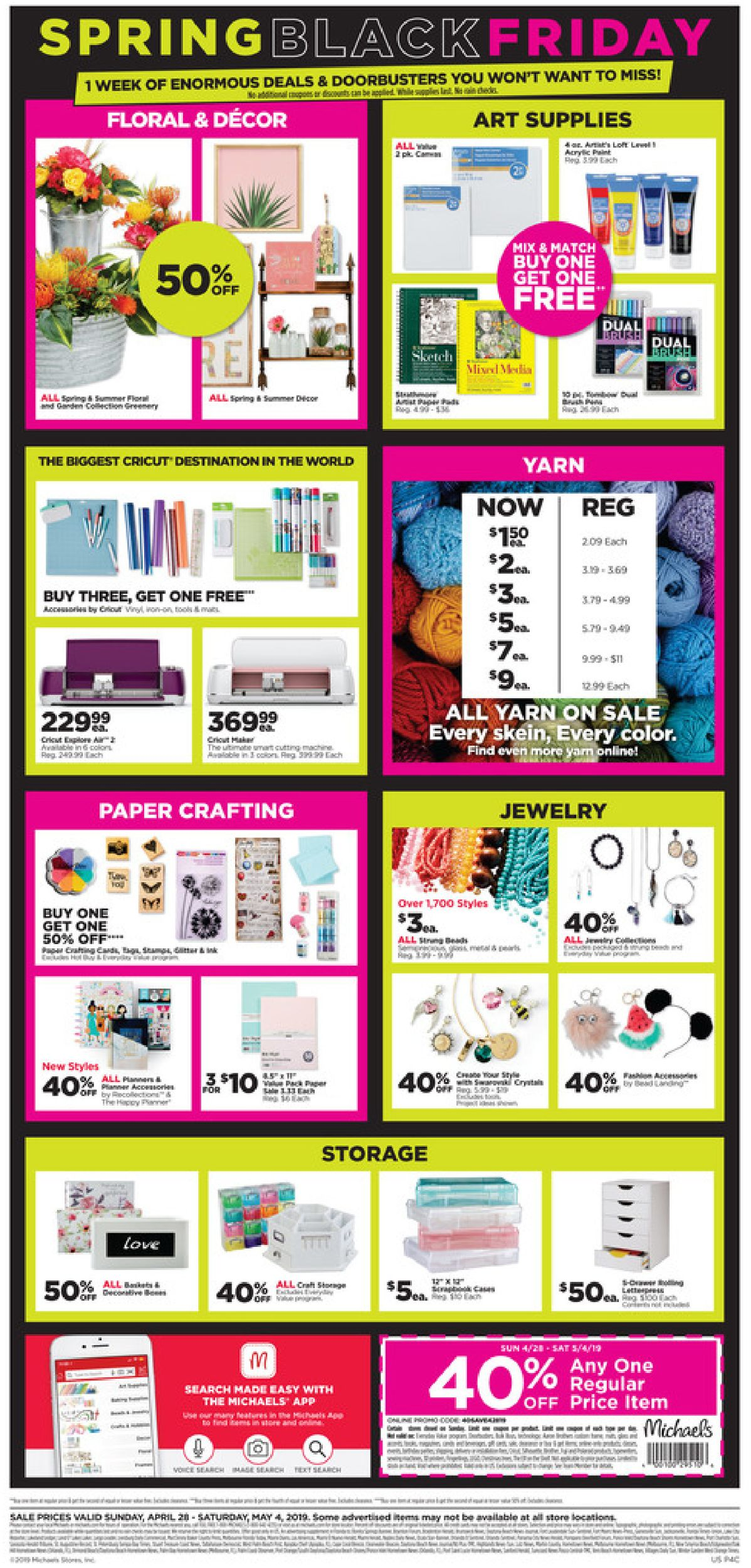 Michaels Flyer - 04/28-05/04/2019 (Page 4)