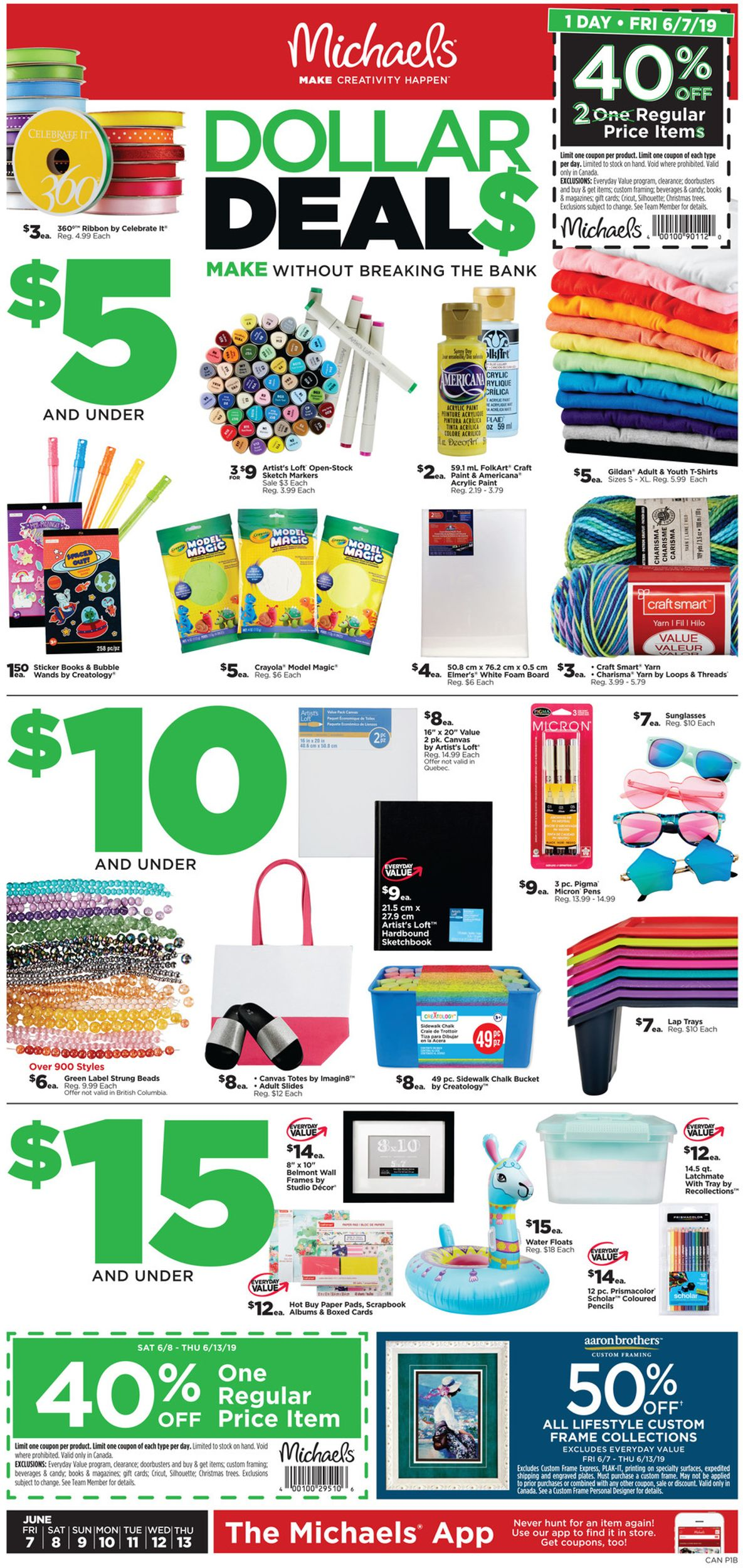 Michaels Flyer - 06/07-06/13/2019