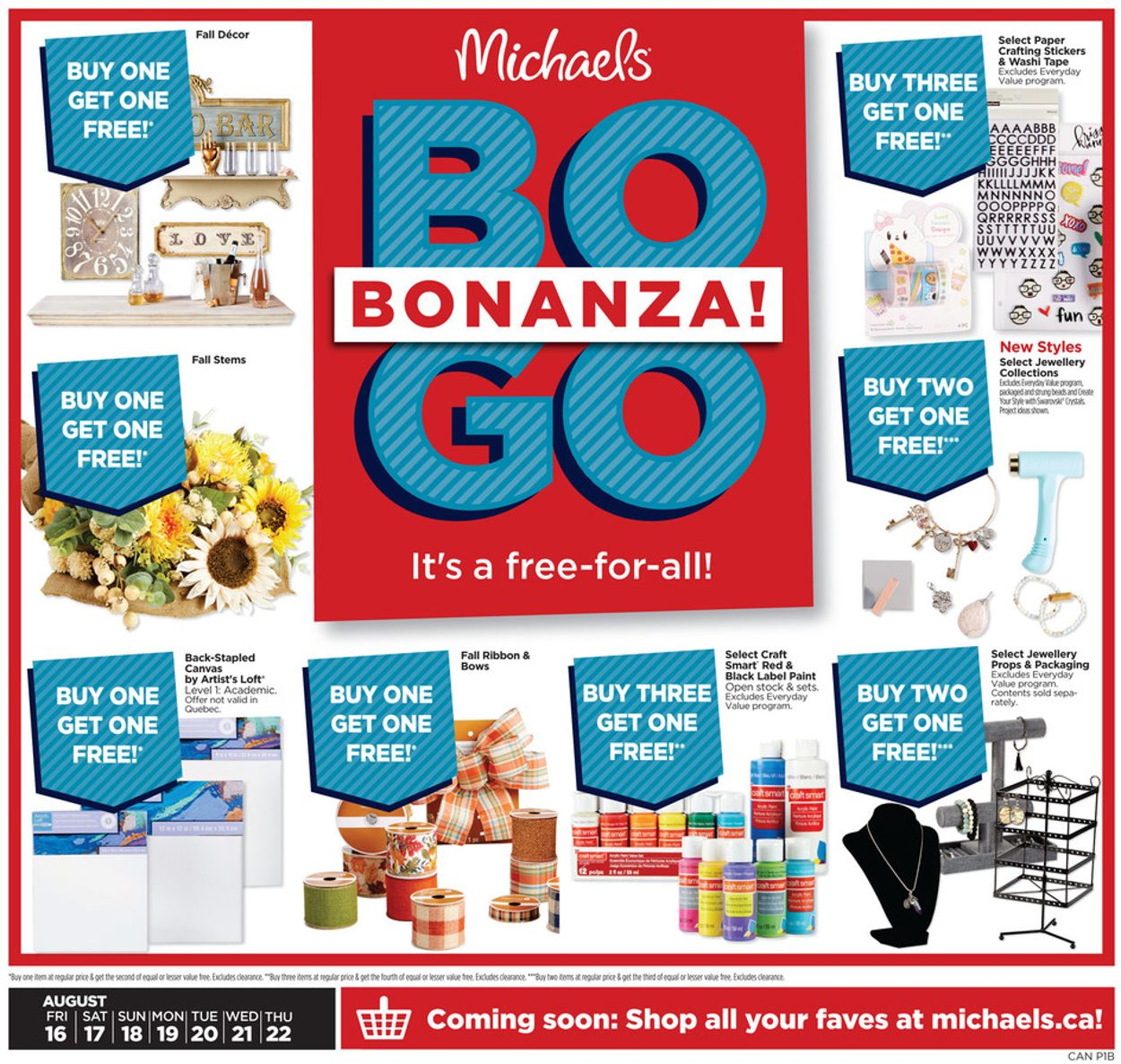 Michaels Flyer - 08/16-08/22/2019