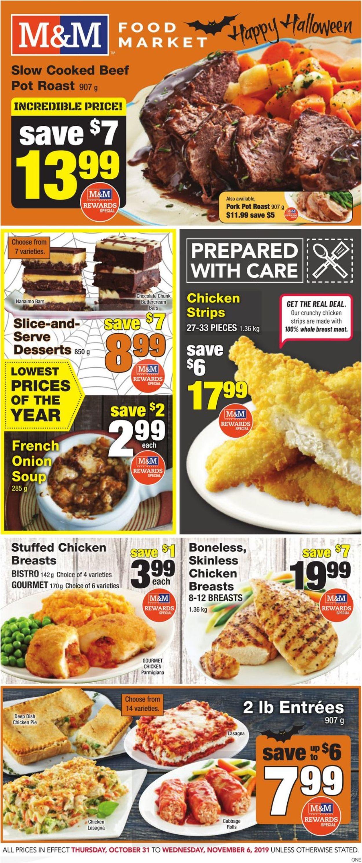 M&M Food Market Flyer - 10/31-11/06/2019