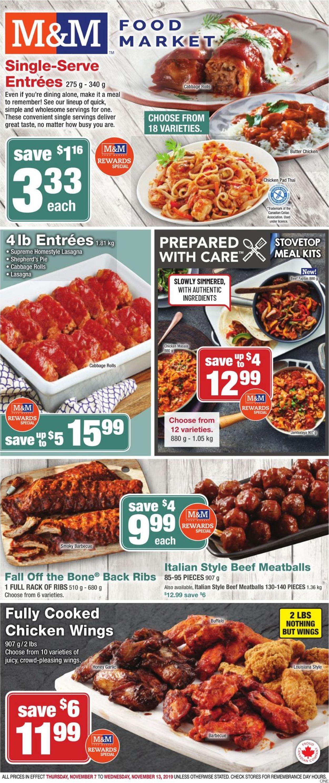 M&M Food Market Flyer - 11/07-11/13/2019