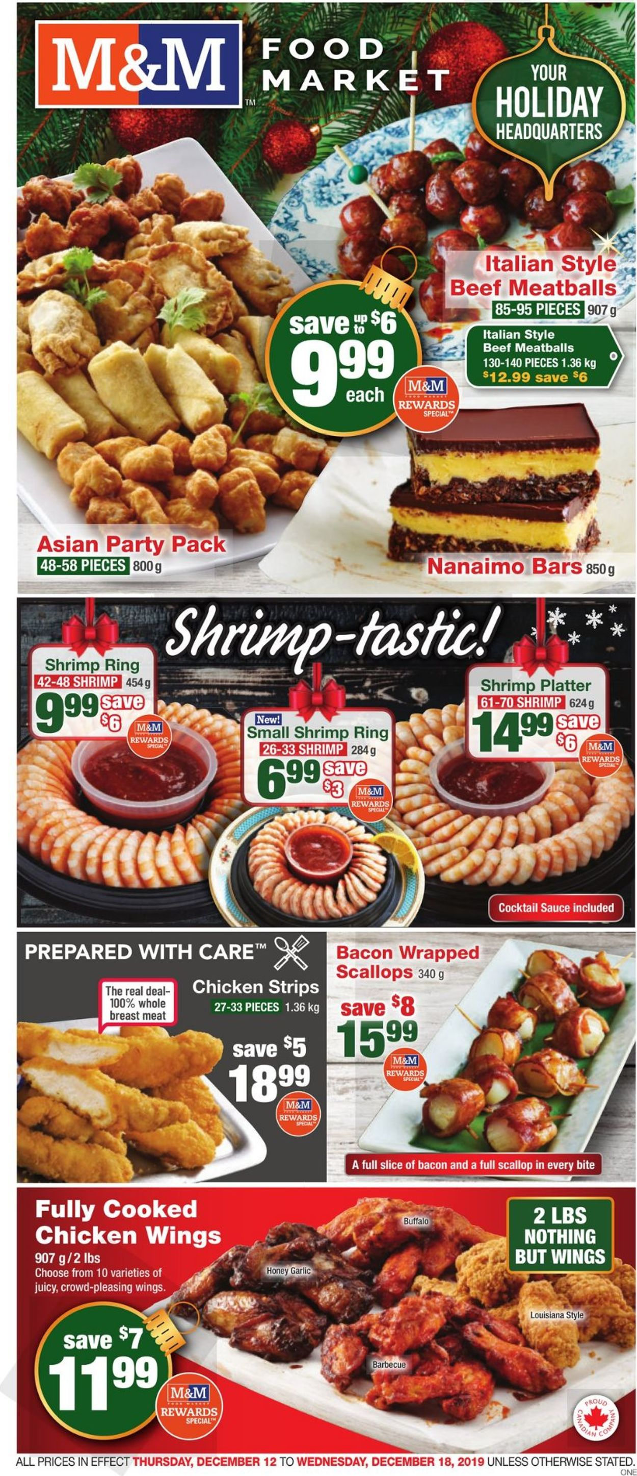 M&M Food Market - Holiday Flyer 2019 Flyer - 12/12-12/18/2019