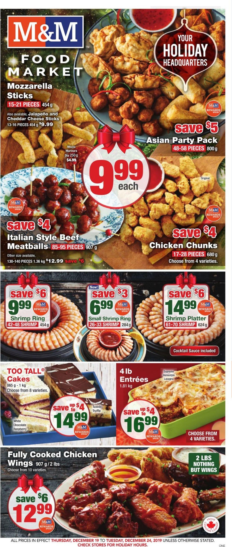 M&M Food Market - Holiday Flyer 2019 Flyer - 12/19-12/25/2019