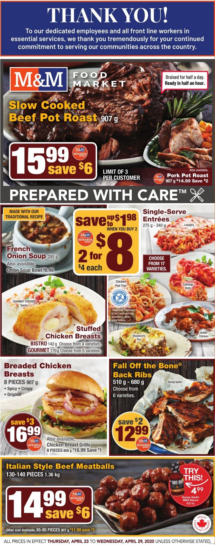 M&M Food Market Flyer - 04/23-04/29/2020