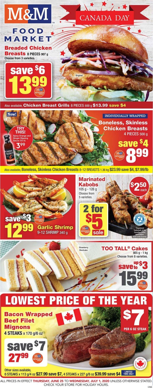 M&M Food Market Flyer - 06/25-07/01/2020
