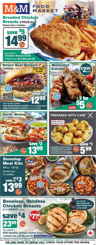 M&M Food Market Flyer - 07/16-07/22/2020