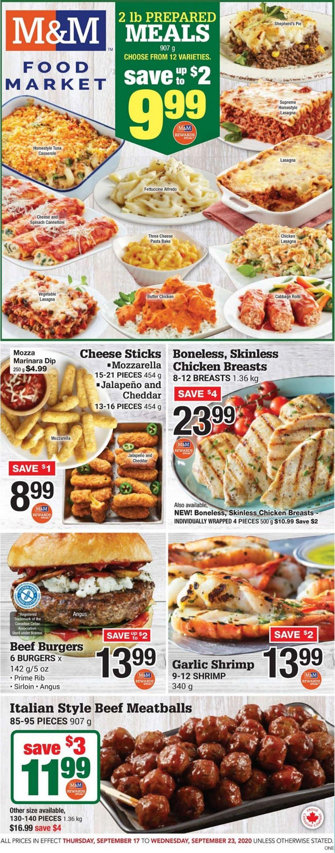 M&M Food Market Flyer - 09/17-09/23/2020