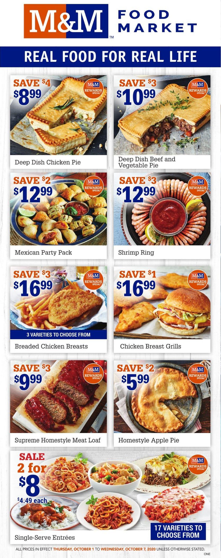 M&M Food Market Flyer - 10/01-10/07/2020