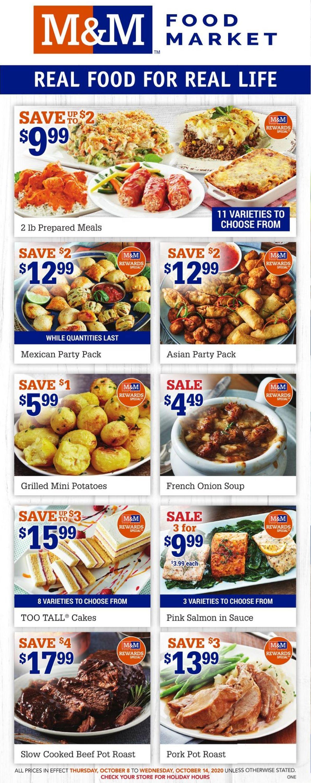 M&M Food Market Flyer - 10/08-10/14/2020