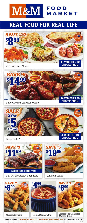M&M Food Market Flyer - 10/29-11/04/2020