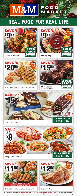 M&M Food Market Black Friday Flyer - 11/26-12/02/2020