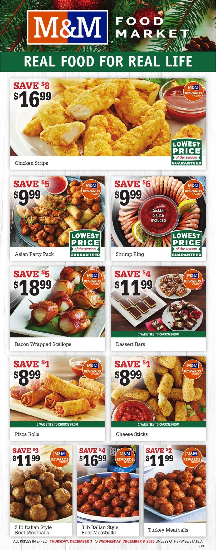 M&M Food Market - Holiday 2020 Flyer - 12/03-12/09/2020