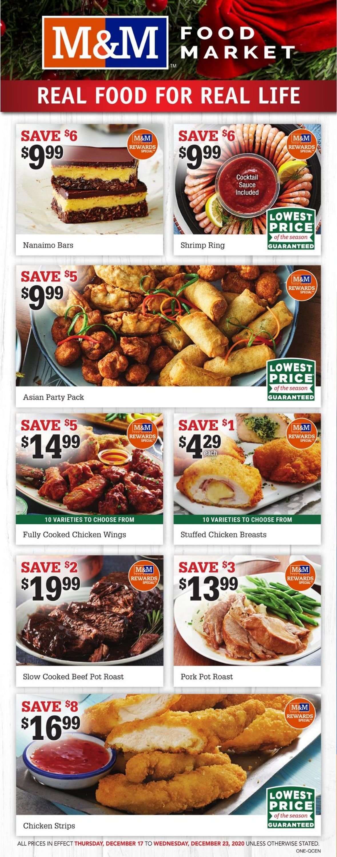 M&M Food Market - Holiday 2020 Flyer - 12/17-12/23/2020
