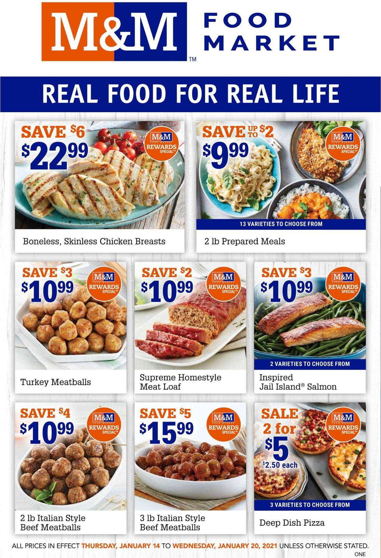 M&M Food Market Flyer - 01/14-01/20/2021
