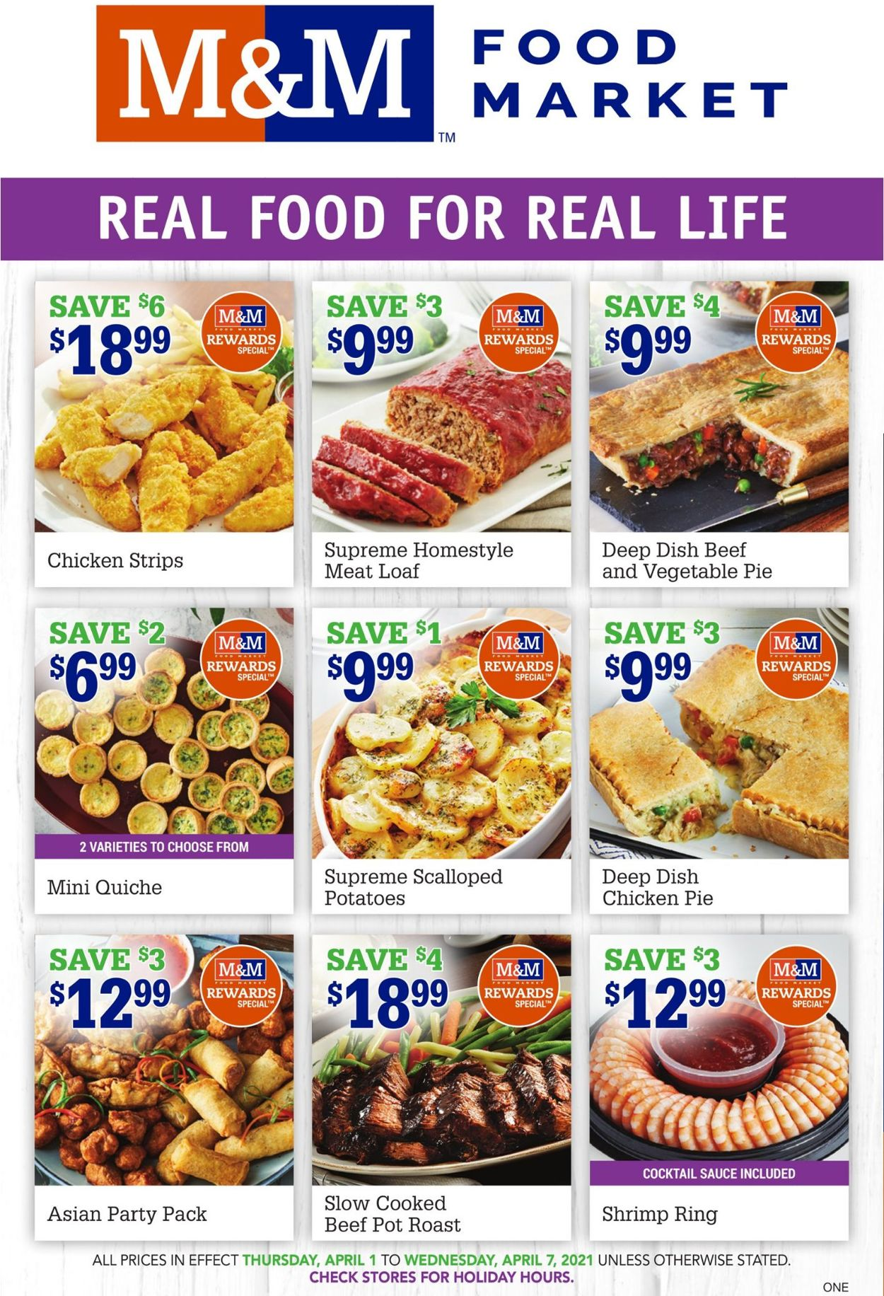 M&M Food Market Flyer - 04/01-04/07/2021