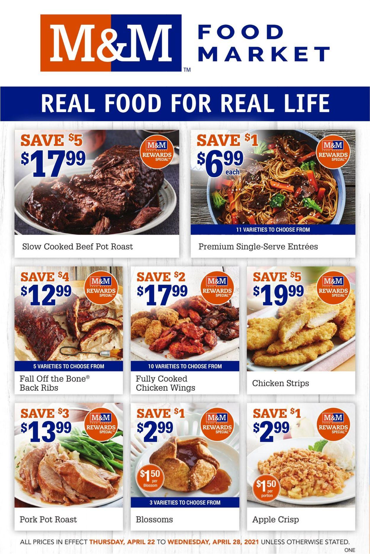 M&M Food Market Flyer - 04/22-04/28/2021