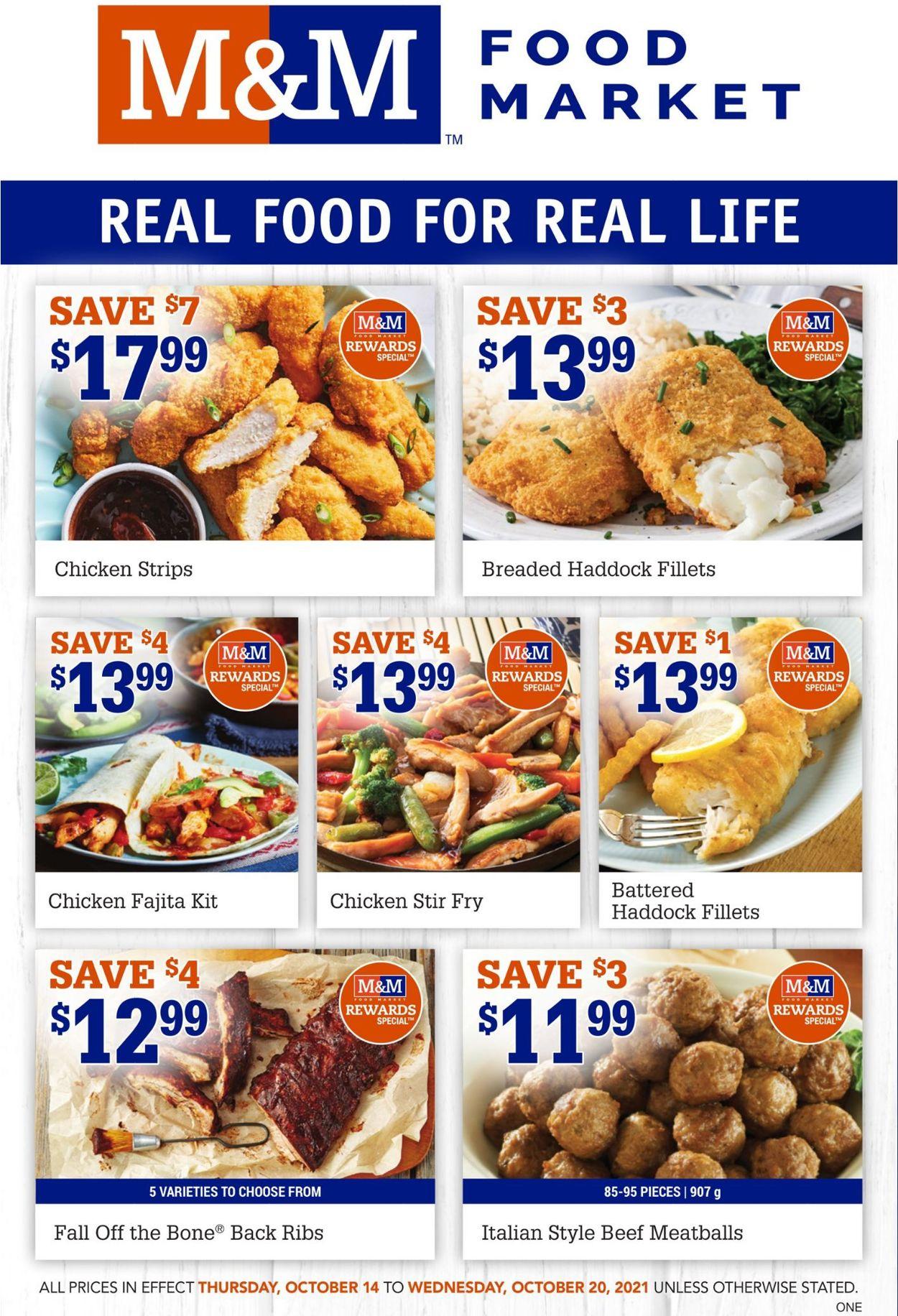 M&M Food Market Flyer - 10/14-10/20/2021