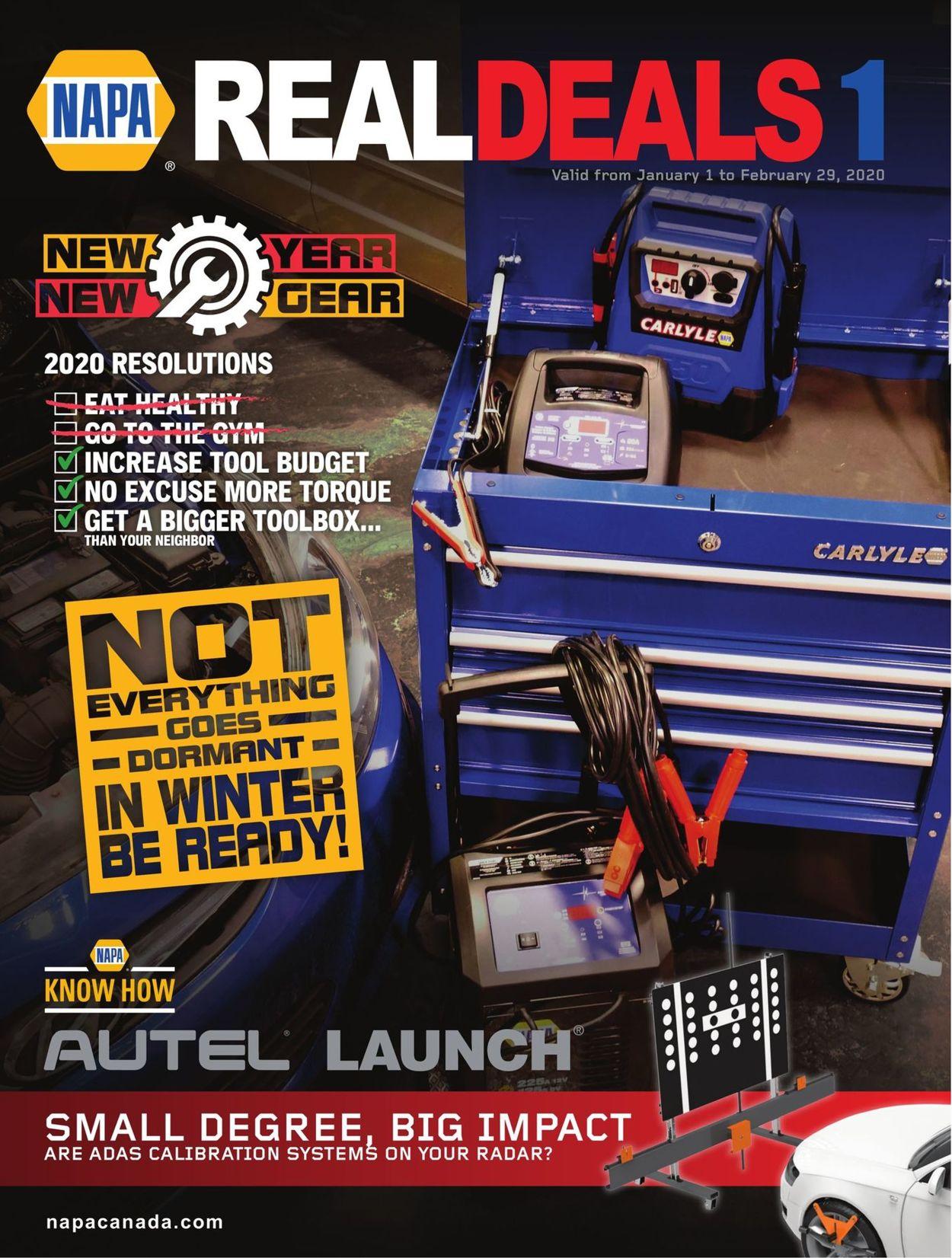 NAPA Auto Parts Flyer - 01/01-02/29/2020