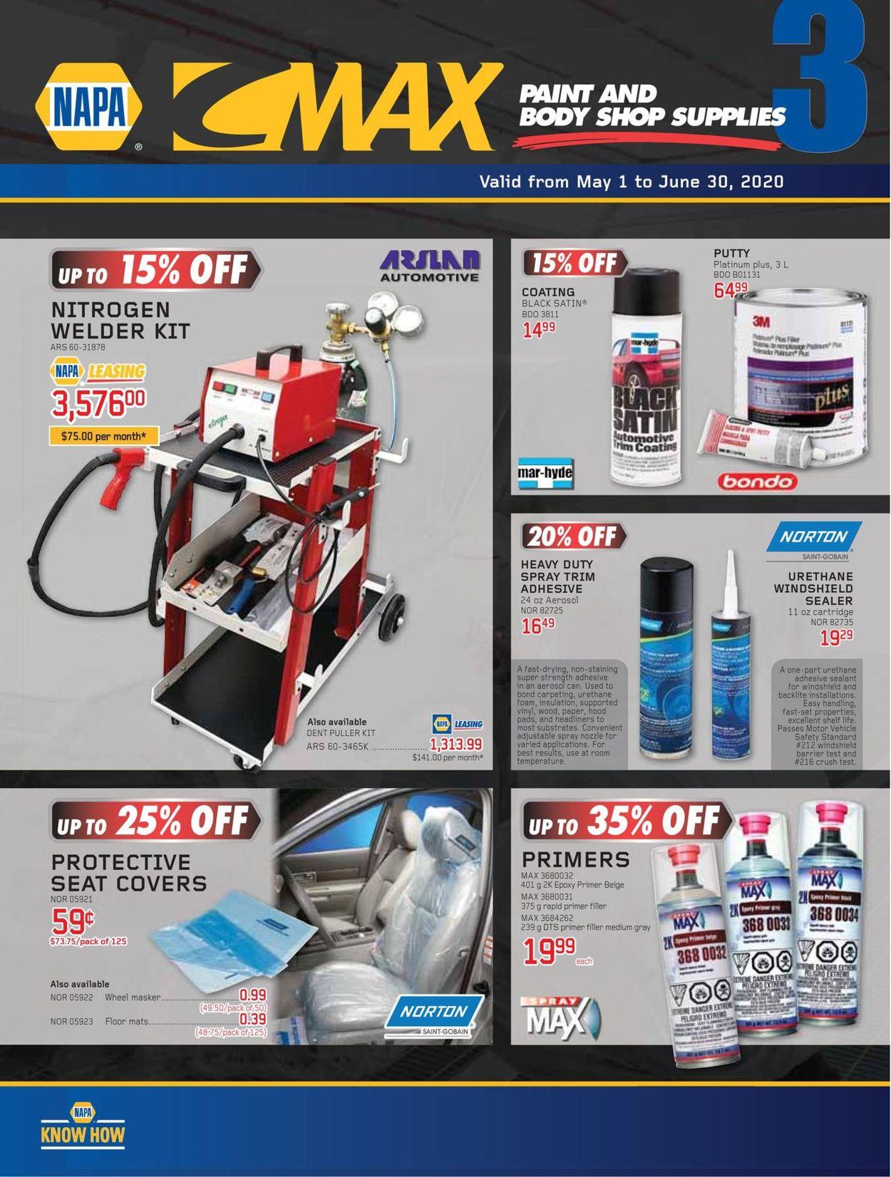 NAPA Auto Parts Flyer - 05/01-06/30/2020