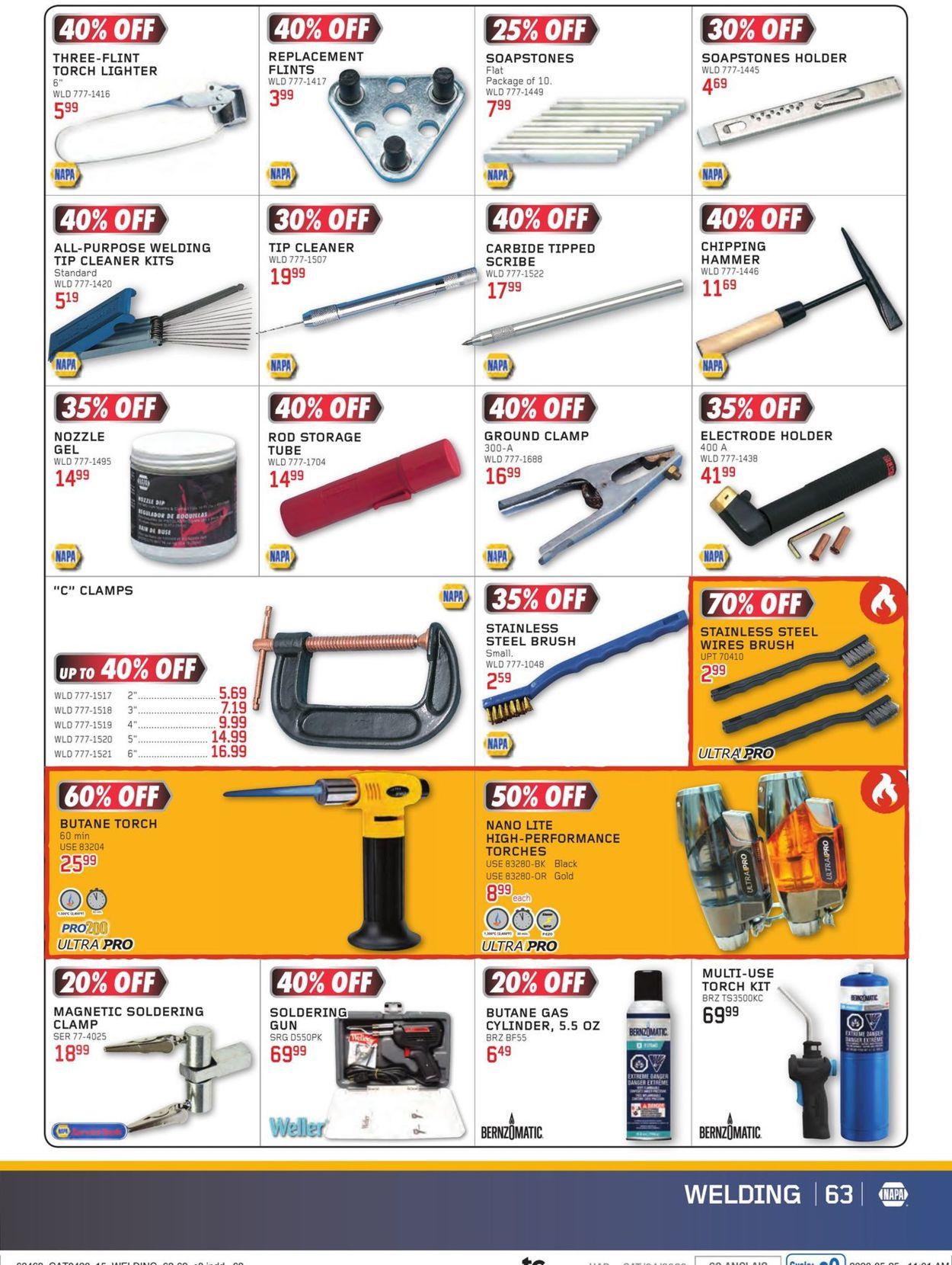NAPA Auto Parts Flyer - 07/01-08/31/2020 (Page 63)