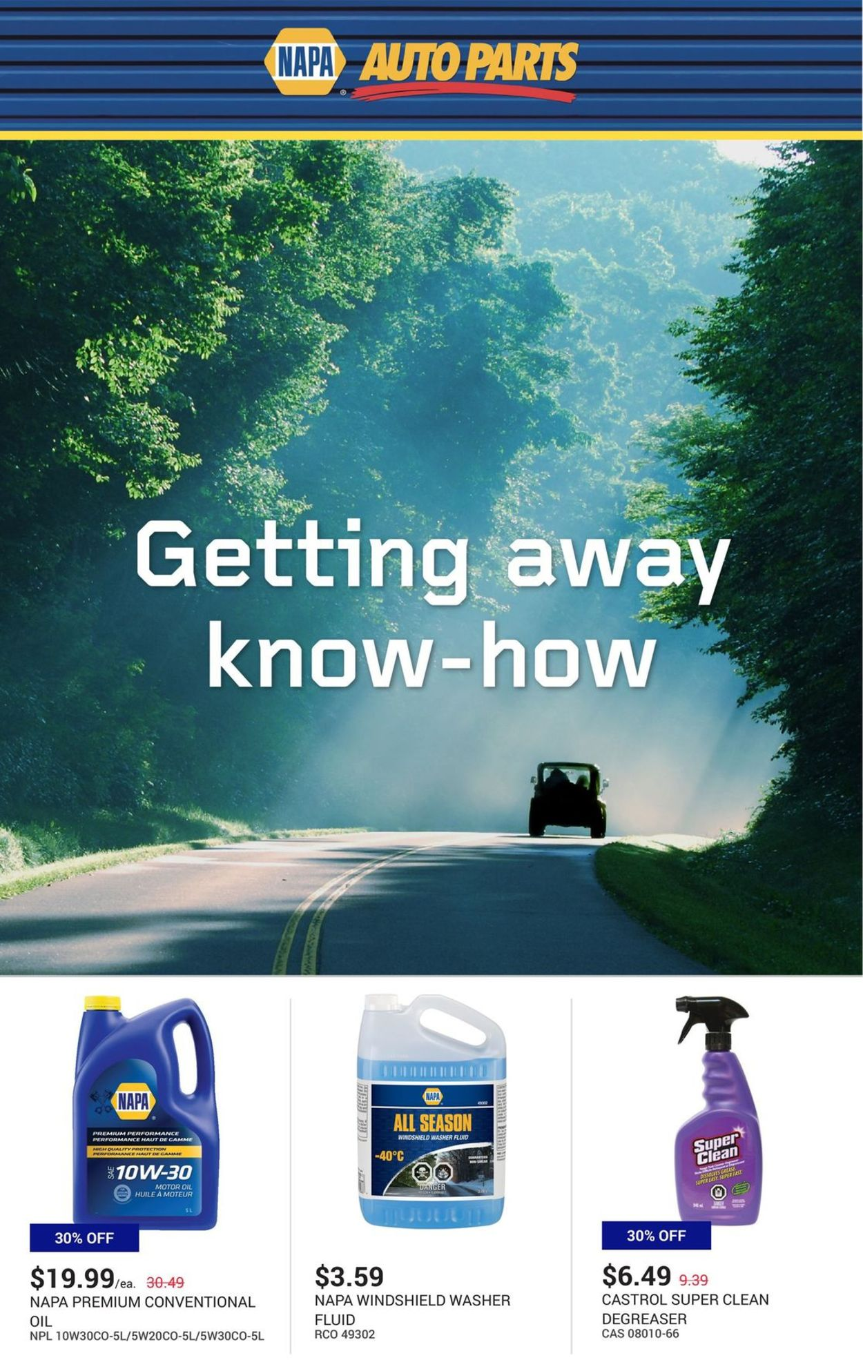 NAPA Auto Parts Flyer - 07/01-07/31/2020