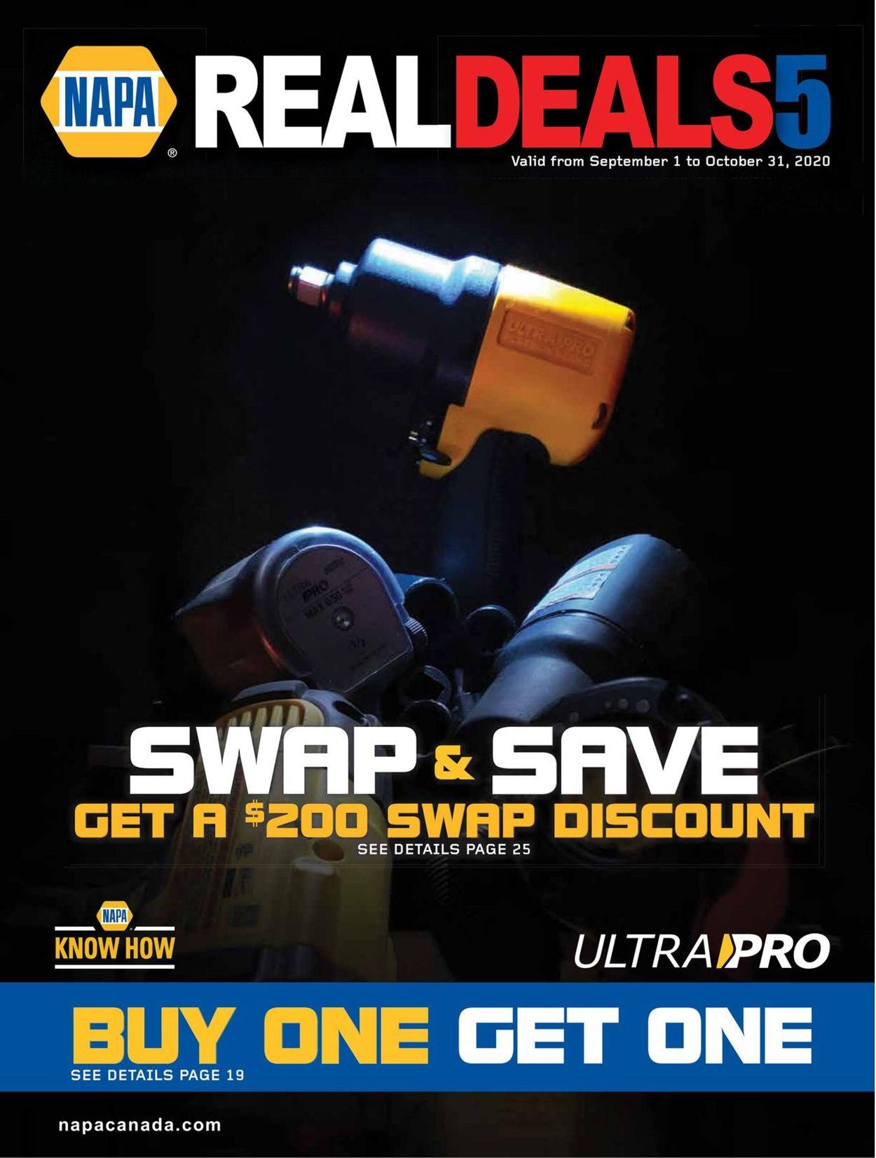 NAPA Auto Parts Flyer - 09/01-10/31/2020