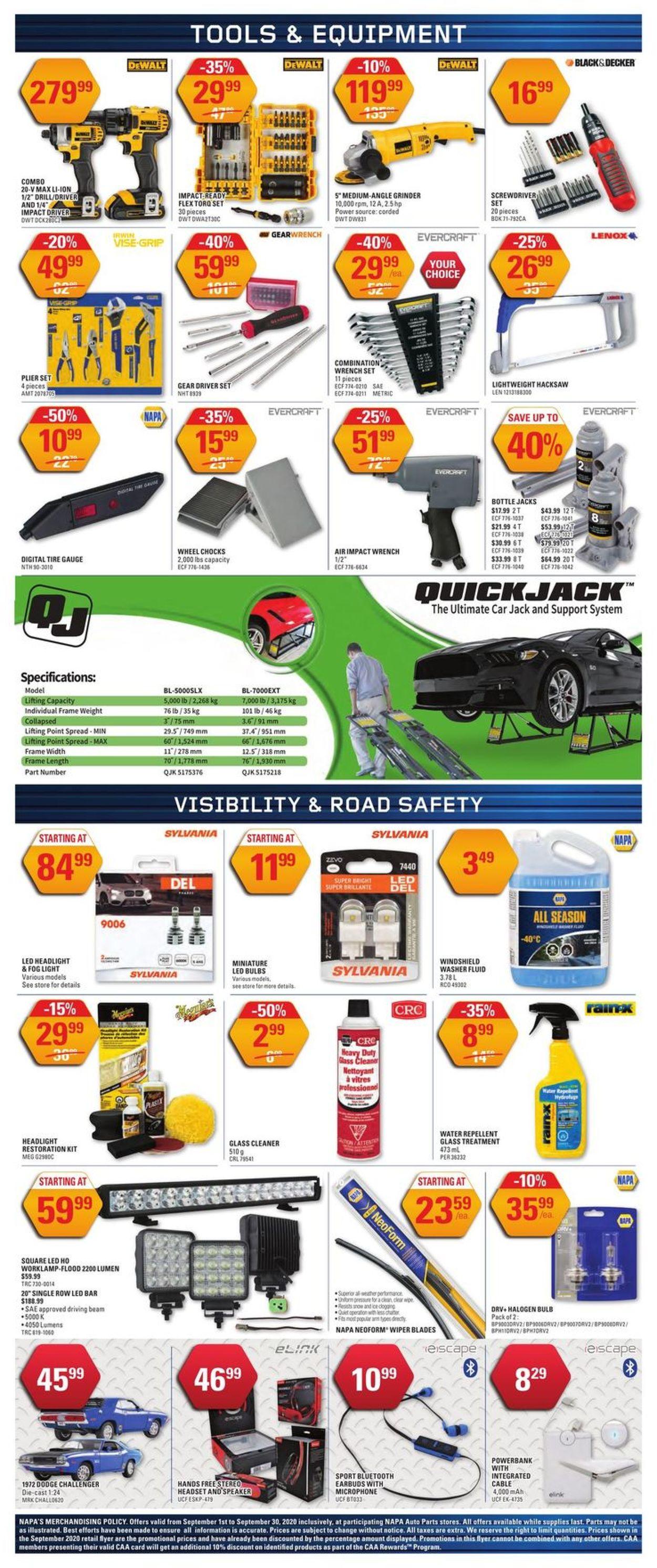 NAPA Auto Parts Flyer - 09/01-09/30/2020 (Page 4)