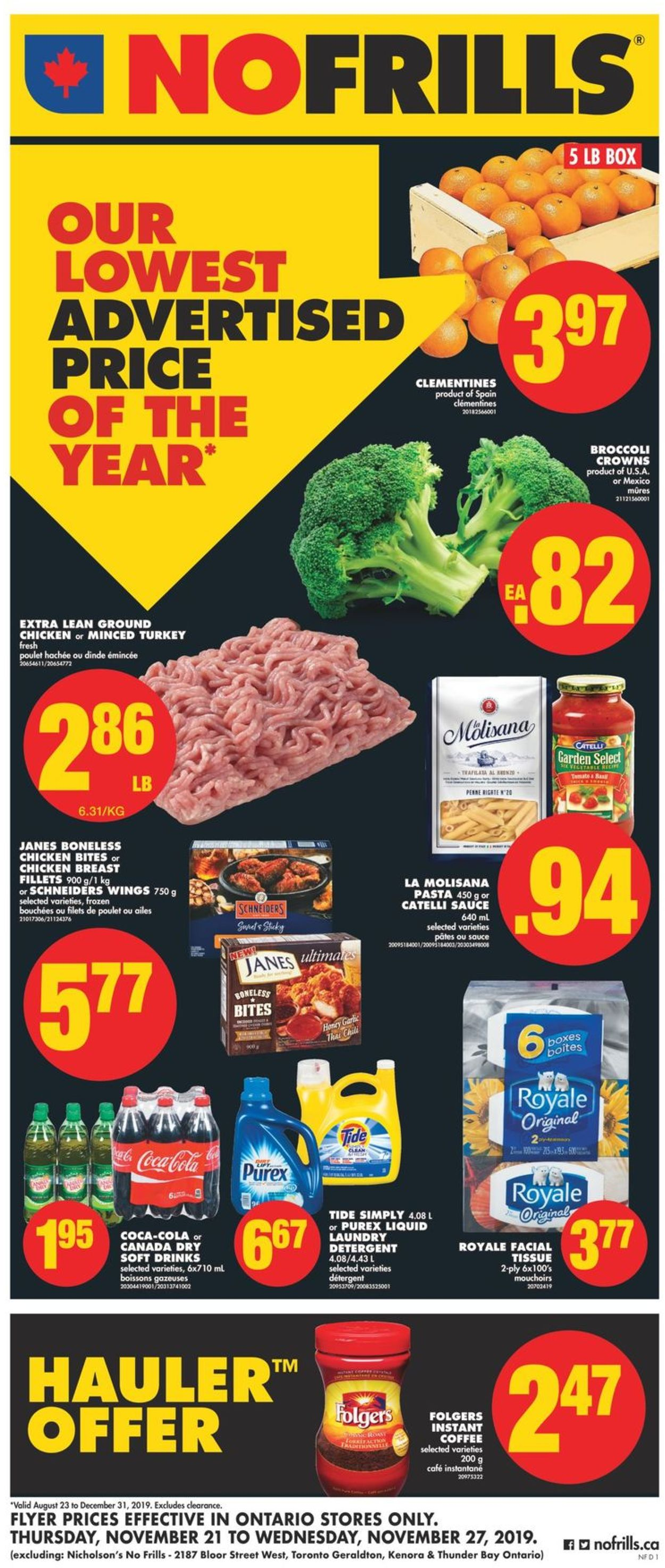 No Frills BLACK FRIDAY FLYER 2019