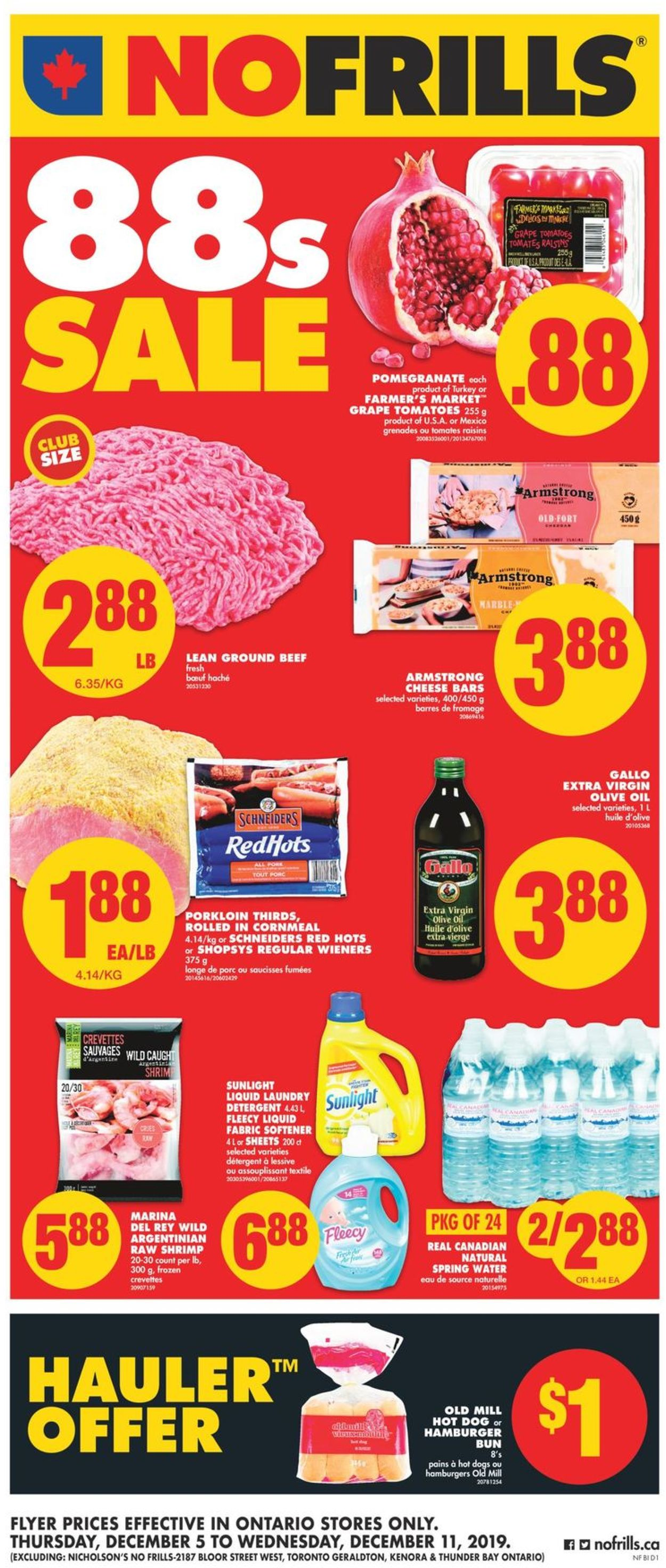 No Frills Flyer - 12/05-12/11/2019