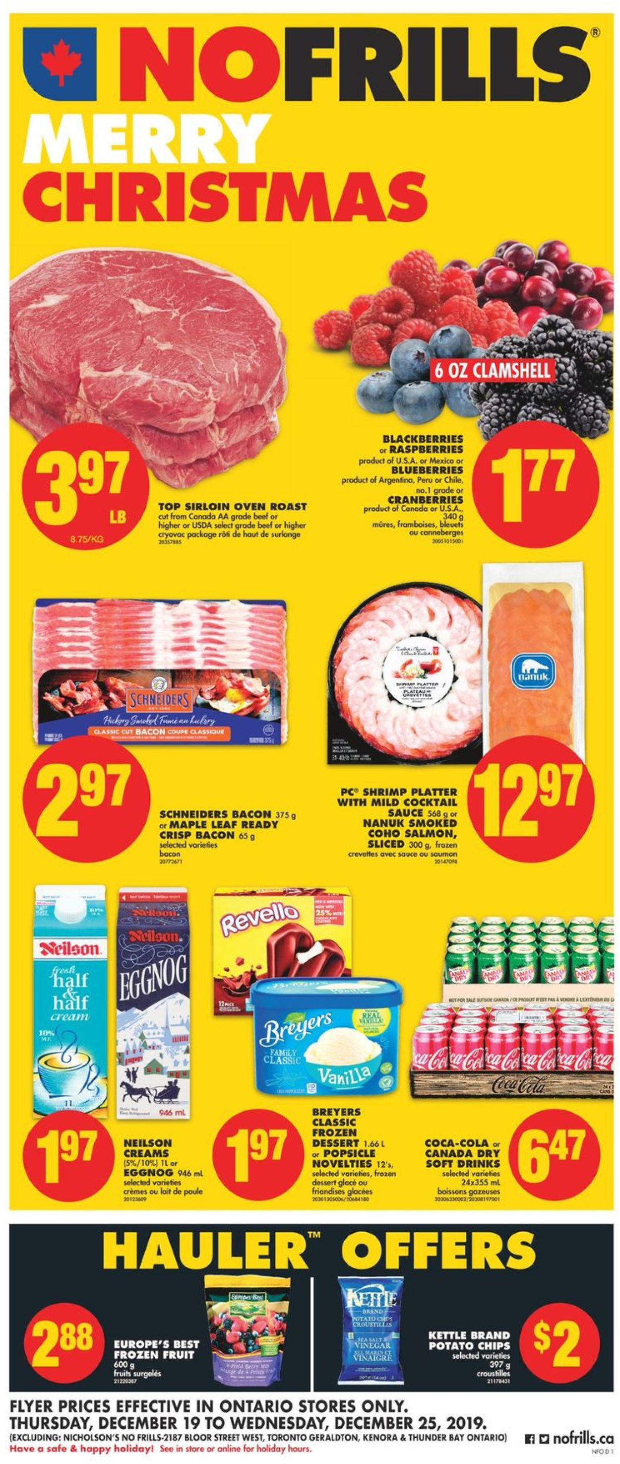 No Frills Christmas Flyer 2019 Flyer - 12/19-12/25/2019