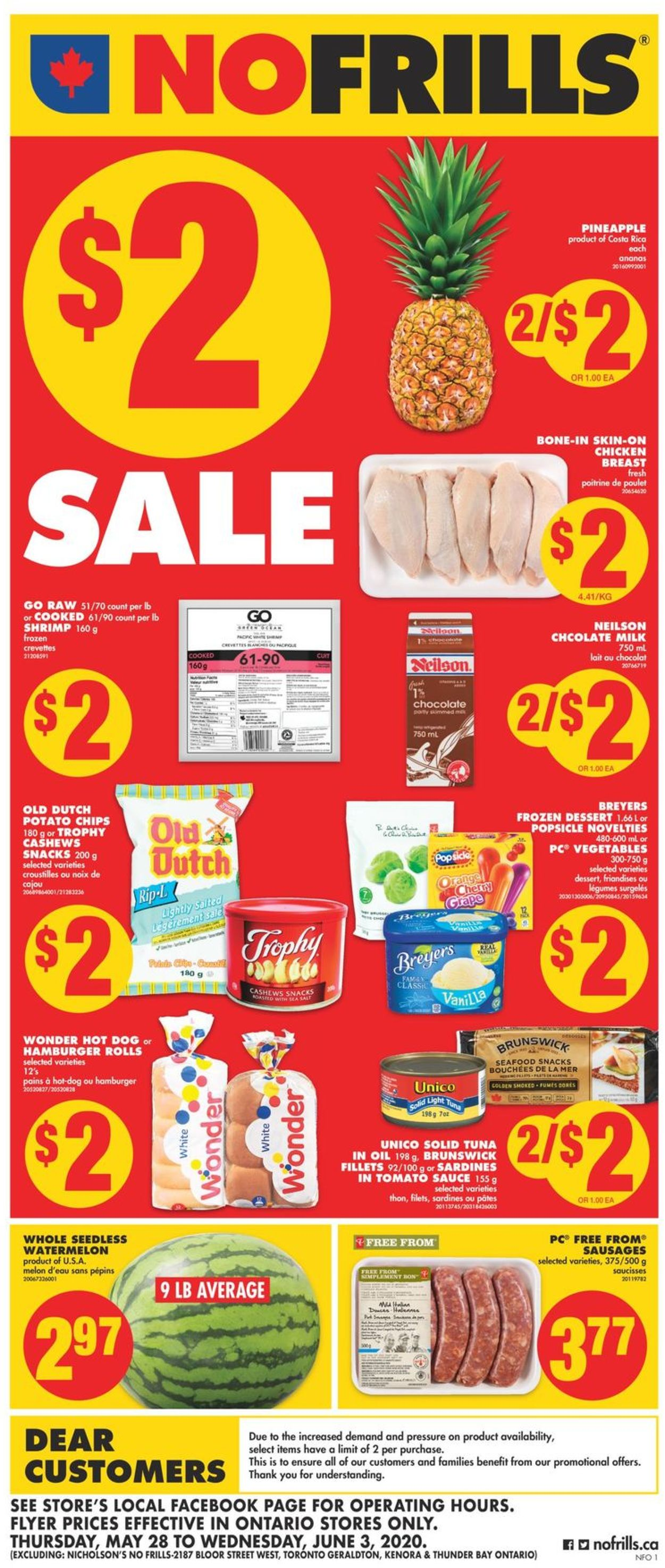 No Frills Flyer - 05/28-06/03/2020