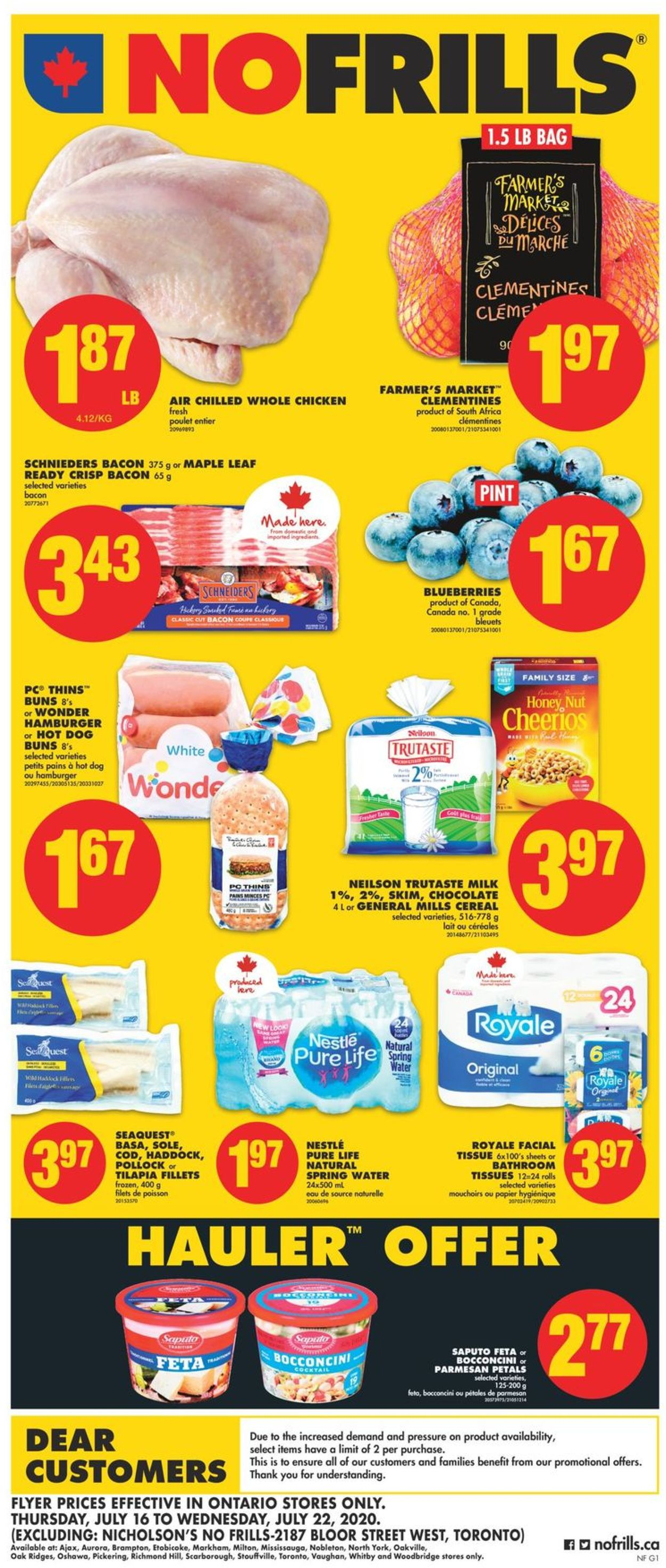 No Frills Flyer - 07/16-07/22/2020