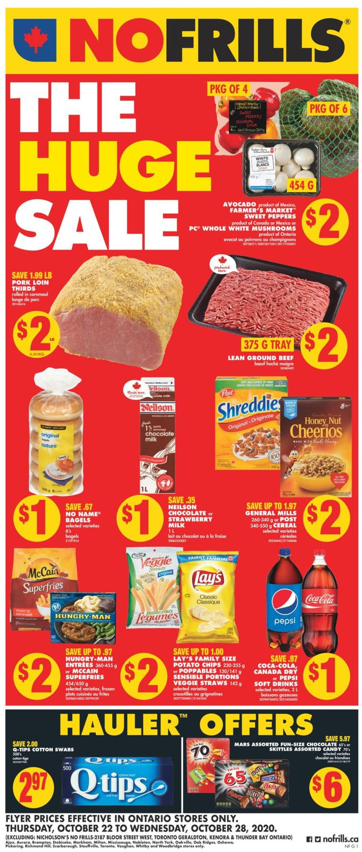 No Frills Flyer - 10/22-10/28/2020