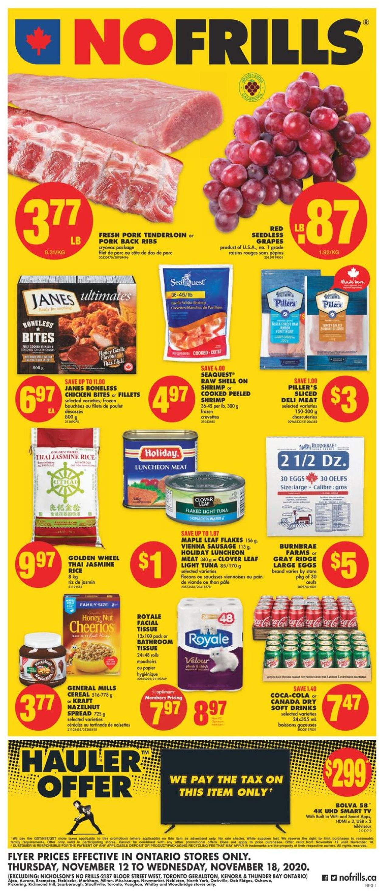 No Frills Flyer - 11/12-11/18/2020