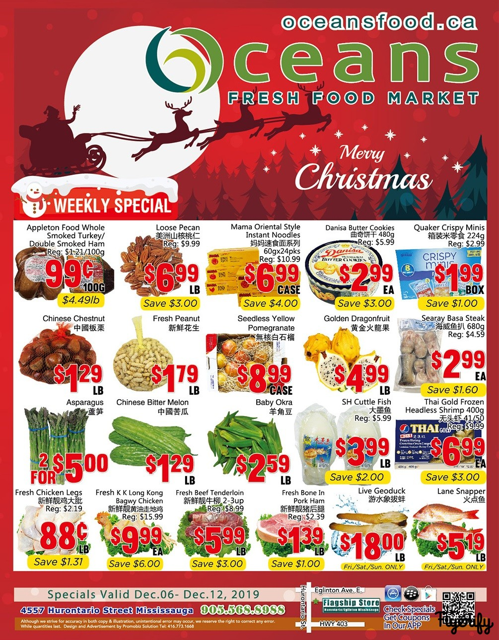 Oceans Holiday Flyer 2019 Flyer - 12/06-12/12/2019