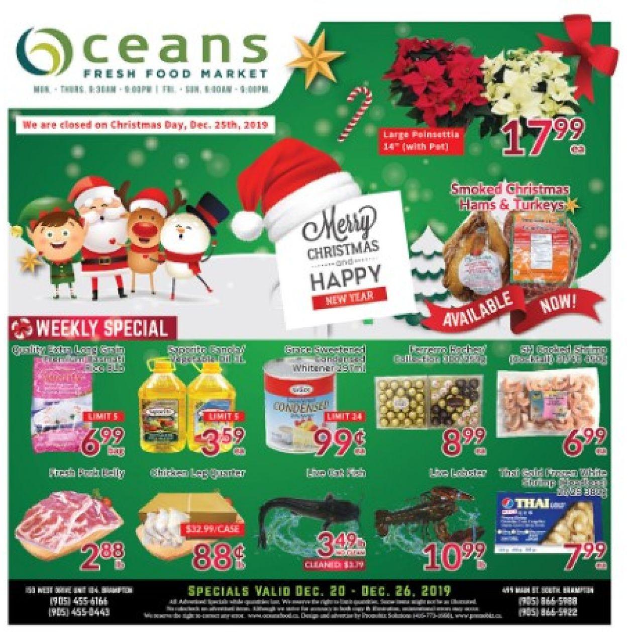 Oceans - Christmas 2019 Flyer