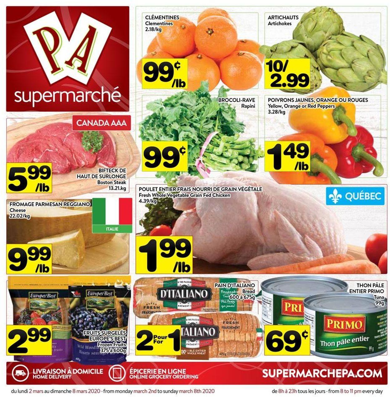 PA Supermarché Flyer - 03/02-03/08/2020