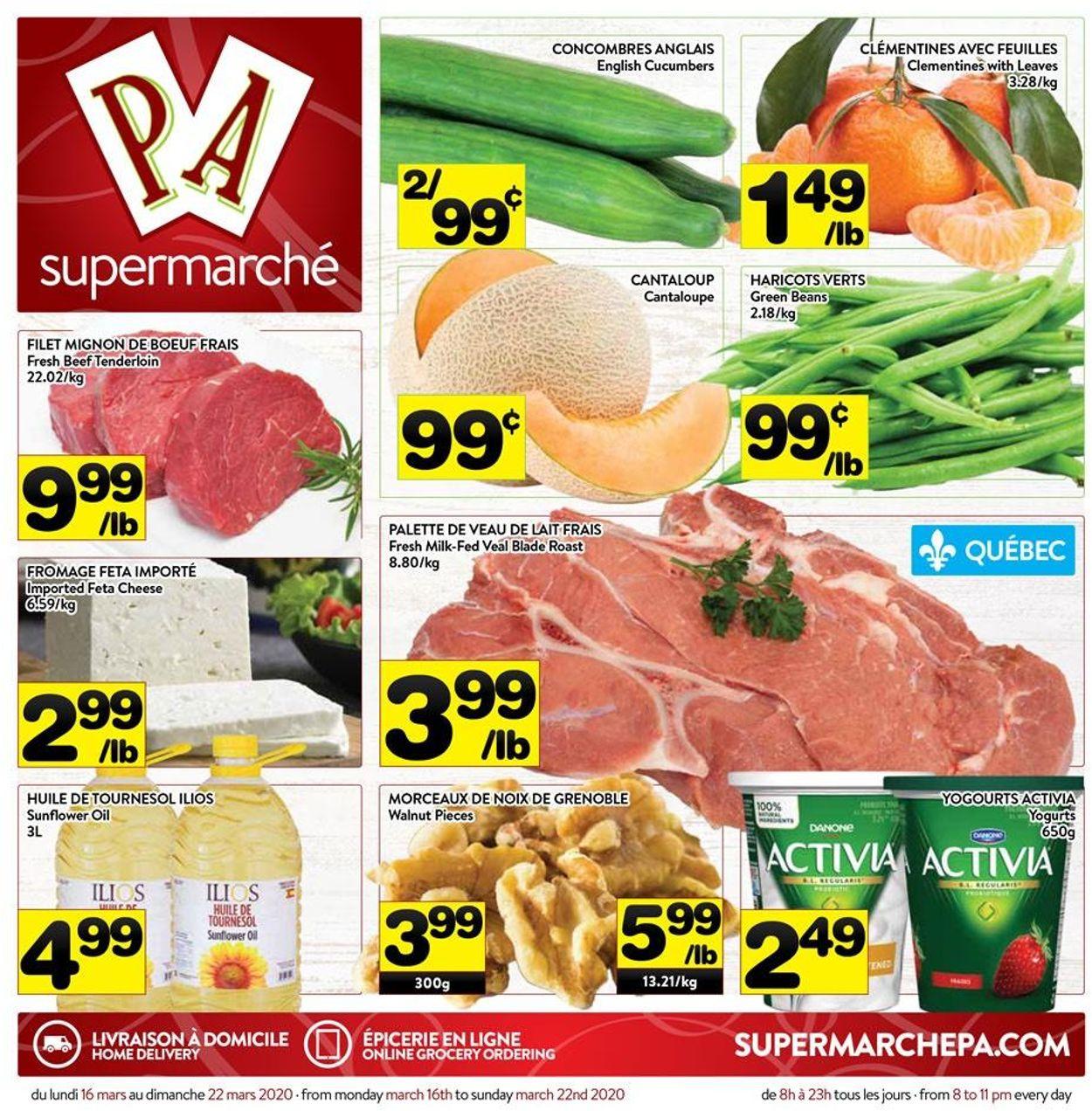 PA Supermarché Flyer - 03/16-03/22/2020