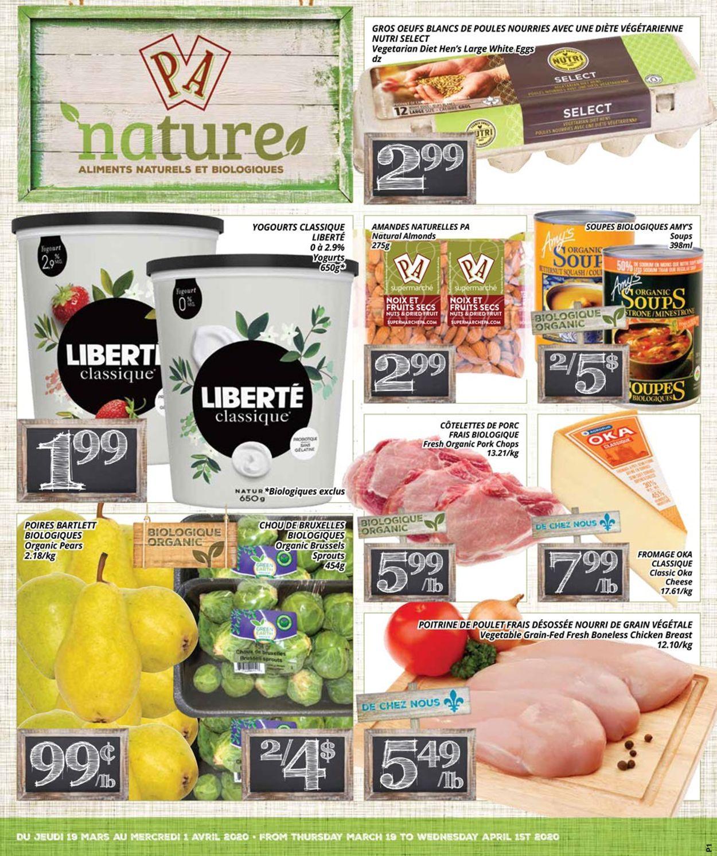 PA Supermarché Flyer - 03/19-04/01/2020