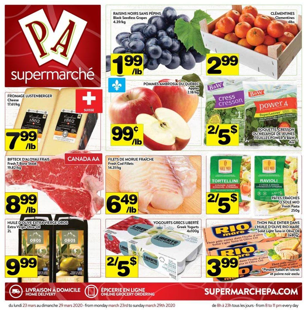 PA Supermarché Flyer - 03/23-03/29/2020