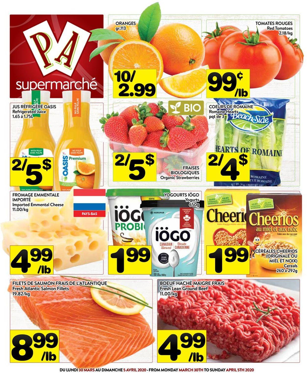 PA Supermarché Flyer - 03/30-04/05/2020