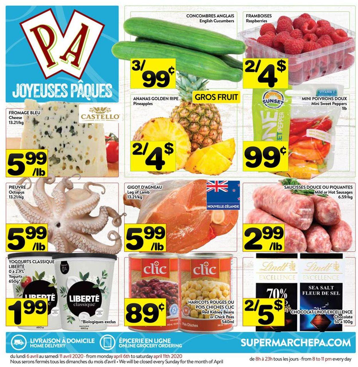 PA Supermarché Flyer - 04/06-04/11/2020