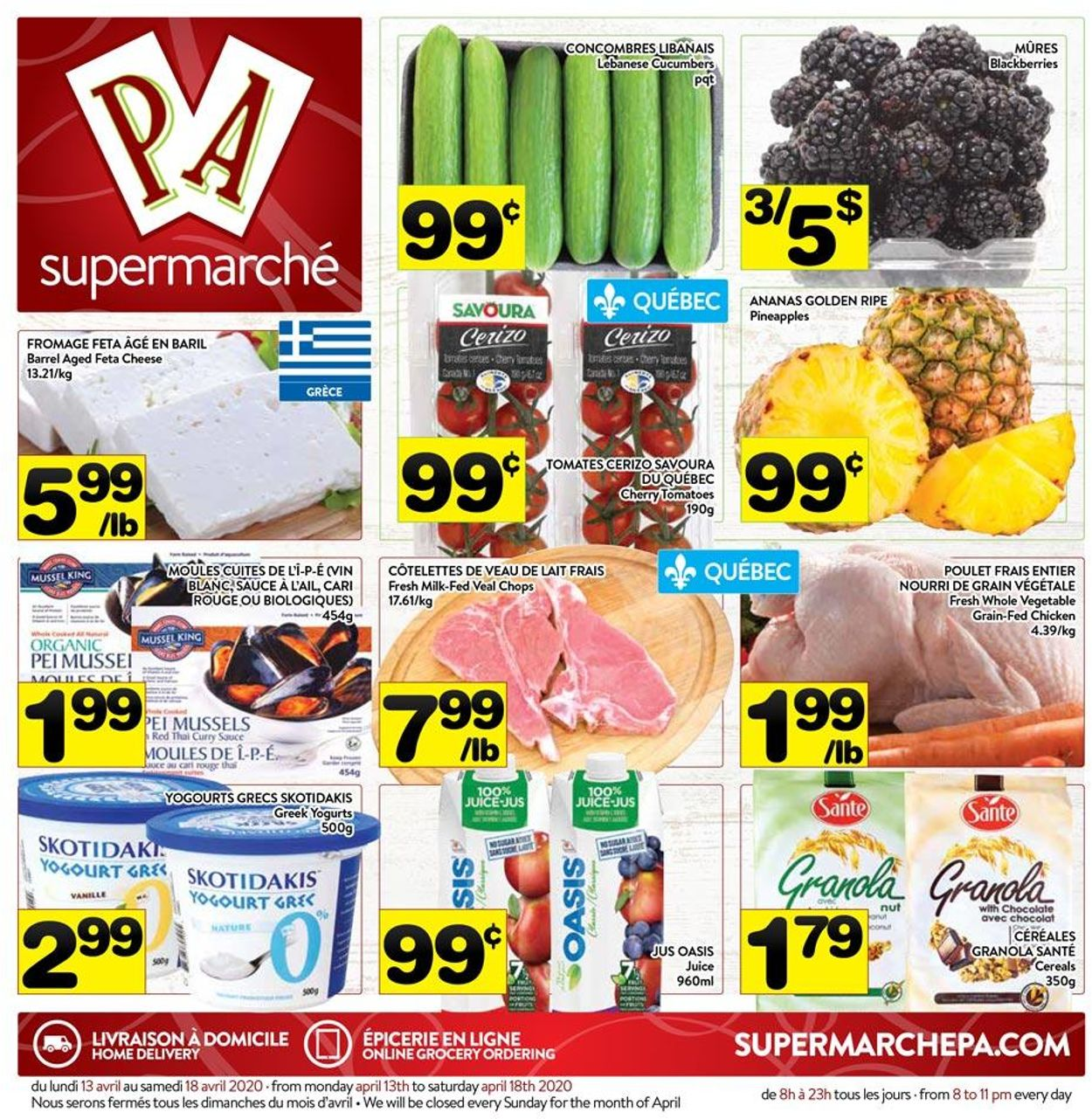 PA Supermarché Flyer - 04/13-04/18/2020
