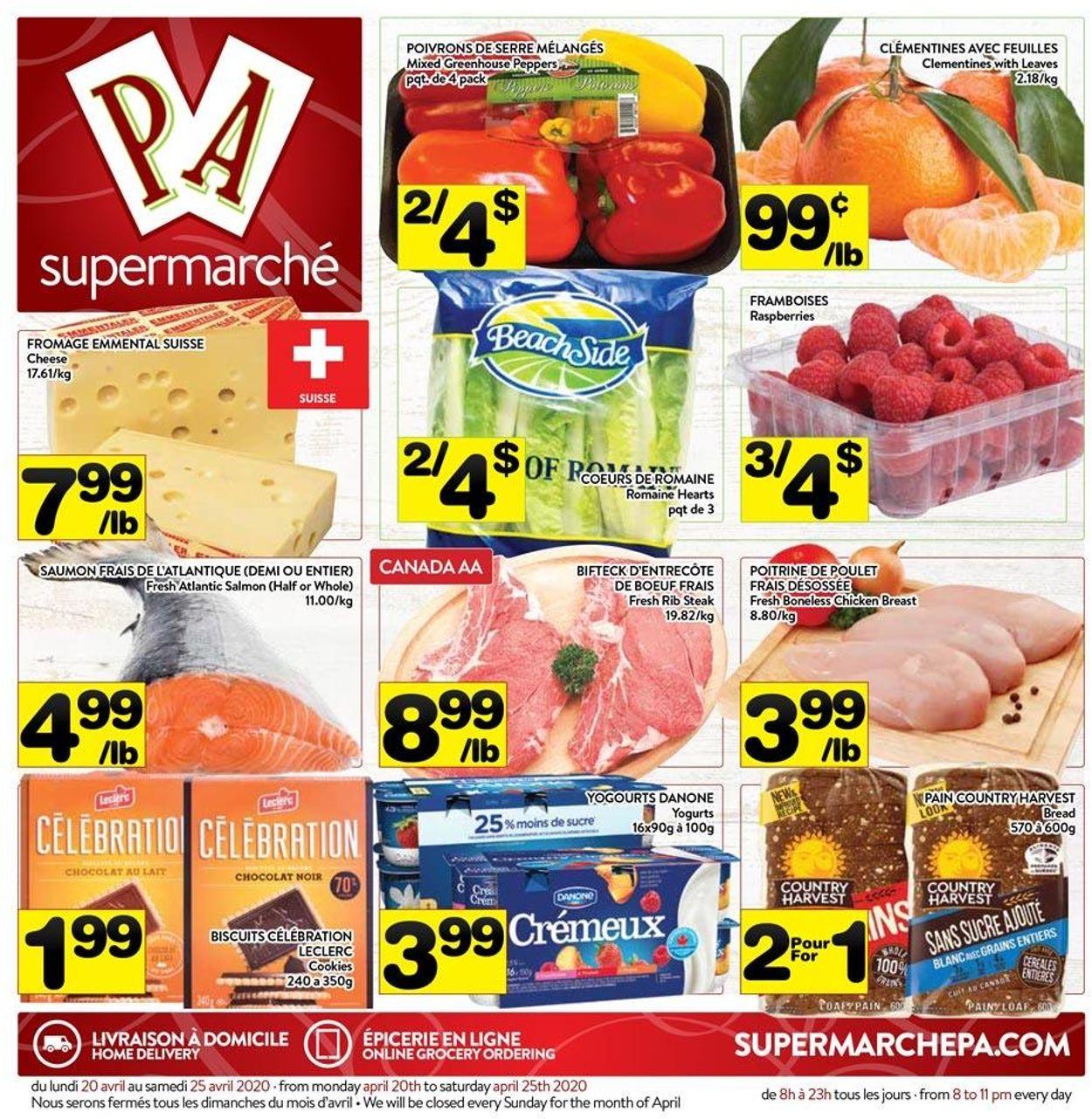 PA Supermarché Flyer - 04/20-04/25/2020