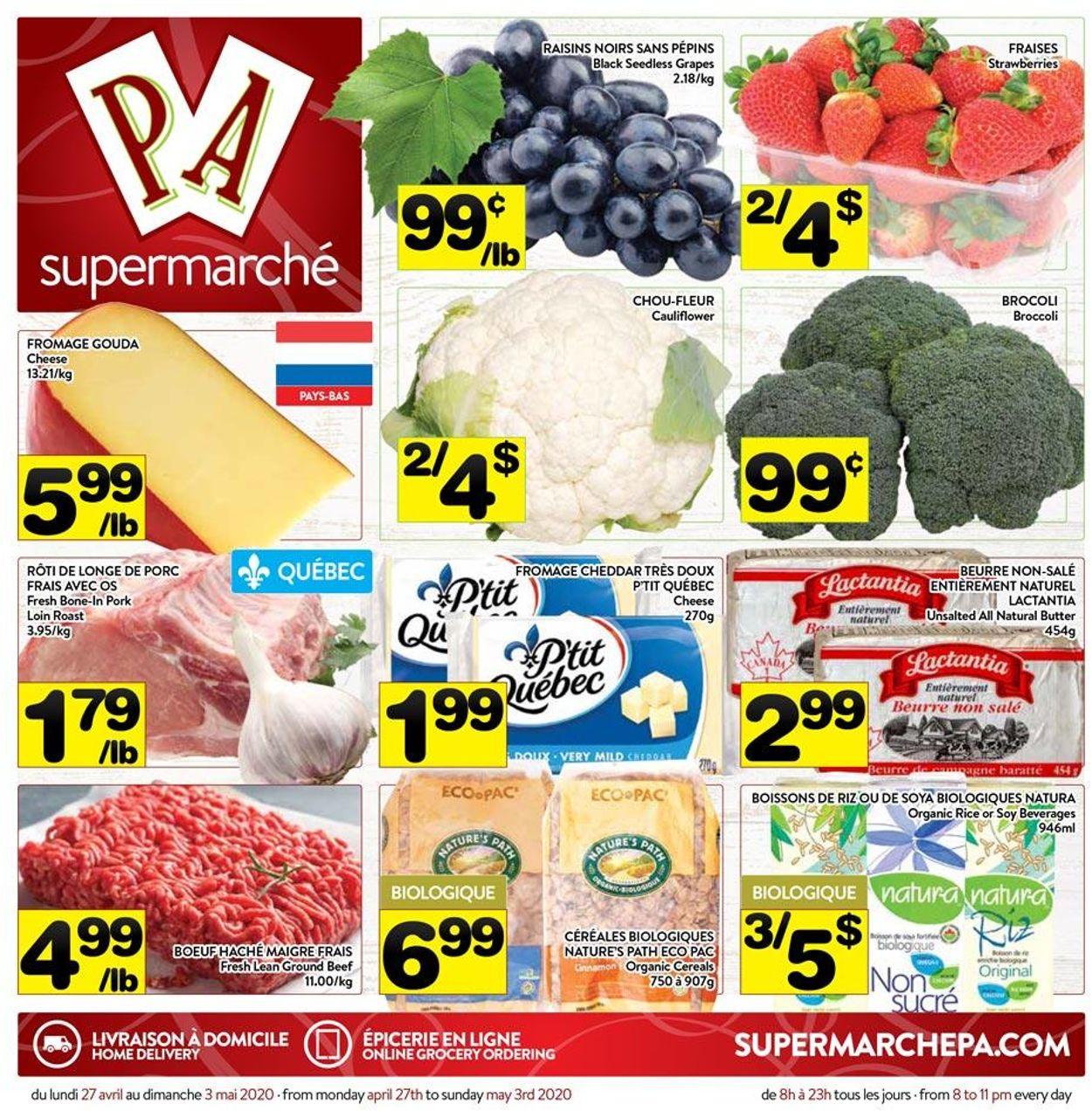 PA Supermarché Flyer - 04/27-05/03/2020