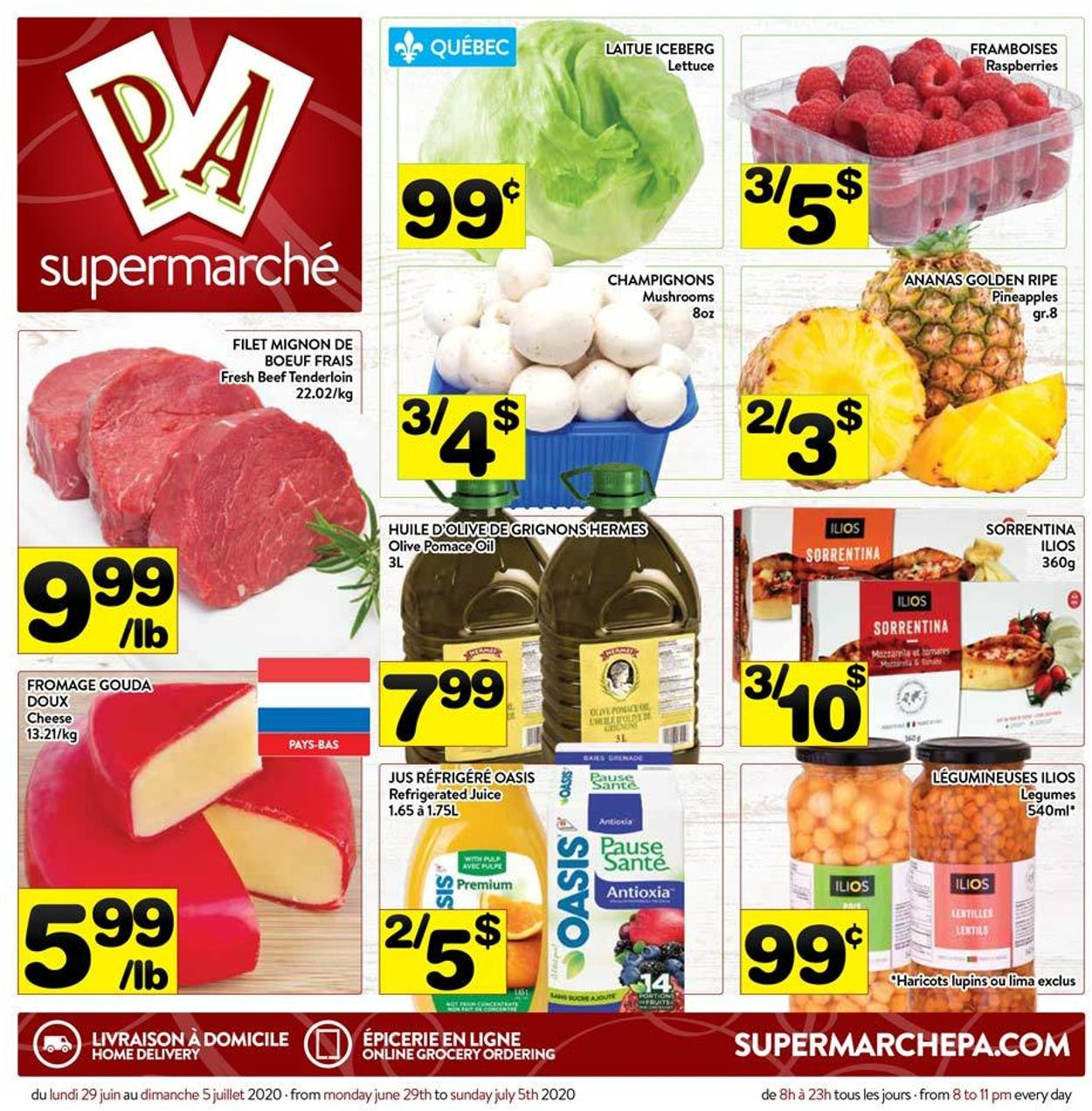 PA Supermarché Flyer - 06/29-07/05/2020